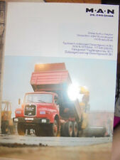 Prospekt Sales Brochure MAN M.A.N 26.281 DHAK Kurzhauber Allrad LKW Truck Daten