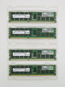 HPE 64GB (4x16GB) PC3-12800R DDR3 1600 ECC Reg Server RAM Memory 672612-181