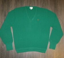 VTG Lacoste Club V-Neck Sweater MEDIUM Orlon Acrylic Made in USA