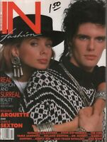 In Fashion Magazine Nov/Dec 1986 Rosanna Arquette Charlie Sexton 120919AME