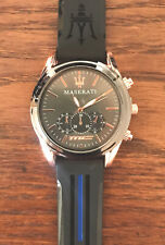Men's MASERATI Waterproof Watch Stainless Quartz Wrist Watch ✅FAST & FREE POST✅