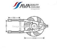 FT7545 Ventola, Raffreddamento motore (MARCA AVA)