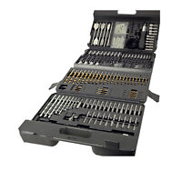 205 Pc Piece Titanium HSS Masonry Metal Wood Drill Bit Set in Case