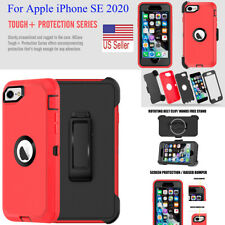 For iPhone SE 2020 Waterproof Case Heavy Duty Shockproof Mirror Case with Clip