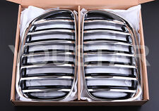 BMW CHROME KIDNEY GRILLS E53 X5 SERIES 2004 - 06 FACELIFT SUV 4X4 3.0d 4.4 4.8i