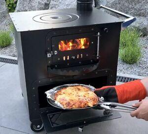 "Garten-Backofen mit Herdplatte Gartenküche ""Elise"" Zeltofen Pizzaofen"