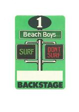 Beach Boys Backstage Pass 1991 Surf Don't Surf Green Cloth New Old Stock