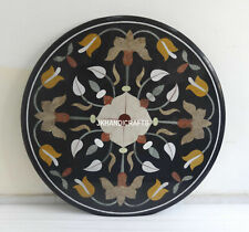 Handmade Black Coffee Table Top Inlaid Dining Marquetry Fine Mosaic Decor 36""