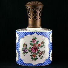 Ancienne Rare LAMPE BERGER PARIS Fleurs PAUL BOCQUILLON Porcelaine sevres/samson