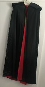 Halloween Medieval Dracula Long Cape/Cloak/Robe. Red Lining
