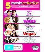 5 DVD-27 Dresses,Bride Wars,Our Family Wedding,What happens in vegas,Four Weddin