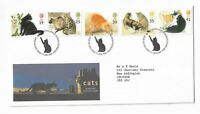 UK Royal Mail First Day Cover Cats stamps 1995 Edinburgh
