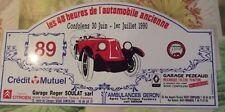 Plaque Rallye les 48 H de l'Automobile ancienne Confolens 1990 Renault N°89