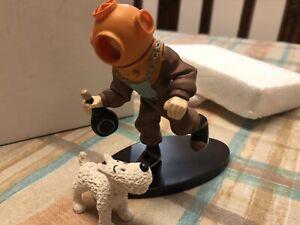 Tim und Struppi Tintin Kunstharzfigur aus England 90er Jahre T2 kein Leblon