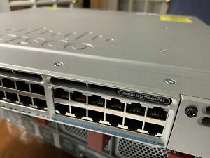 Cisco WS-C3850-12X48U-E Switch 48 Port Gigabit PoE+ 1100W -1 Year Warranty