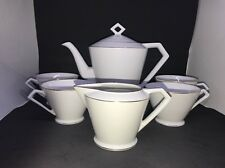 6 Pcs Noritake Japan Teapot, Creamer & 4 Cups