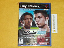 PES 2008 PRO EVOLUTION SOCCER PS2 SONY PLAYSTATION 2 VER. ITALIA NUOVO P. STAMPA