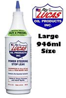 LUCAS OIL POWER STEERING STOP LEAK FIX RACK/BOX FLUID SEAL 946ML (011)