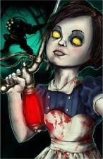 Bioshock Little Sister Big Daddy Video Game Fan Art Print Poster Shooter 11x17