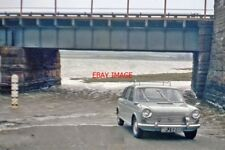 PHOTO  DRIVING THROUGH FLOODS AT SITE OF ESKMEALS RAILWAY STATION 1966