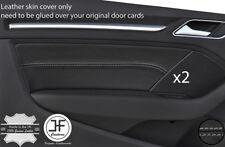 Puntada Gris 2X Tarjeta de Puerta Frontal Recortar Cubiertas De Cuero Para Audi A3 8 V 13-18 3 puertas