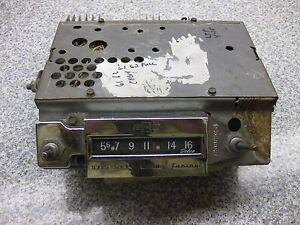 1961 1962 CHEVROLET AM RADIO MANUAL TUNE   1960s BELAIR IMPALA