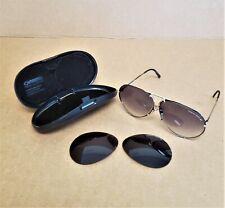 New listing Porsche Carrera Sunglasses 5621 Blk/Gold With Case, 2 Sets Lens, Vintage 1980's