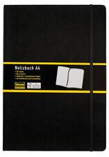 Idena Notizbuch A4 schwarz kariert 192 Seiten
