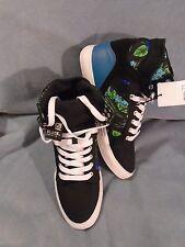 Rue 21 Carbon Brand Black Premium Multi-Colored HI-Top Sneakers Size 9 M New!