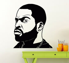 Ice Cube Rap Music Wall Decal Vinyl Music Hip Hop Sticker Decor Home Mural (5mu)