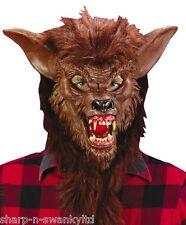 da uomo Marrone lupo mannaro ANIMALE HALLOWEEN MASCHERA accessorio per costume