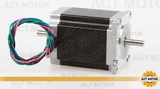 ACT Motor GmbH 1 Stück Nema23 23HS8630B Schrittmotor 3A 76mm 1,89Nm Dual Shaft