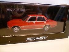 OPEL REKORD BERLINE ROUGE de 1975 : MINICHAMPS ~  NEUF