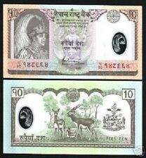 NEPAL 10 RUPEES P 54 2005 *REPLACEMENT CH37 KING POLYMER UNC DEER COW MONEY NOTE
