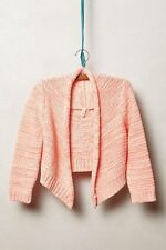 Anthropologie Marled Neon Bolero Cropped Open Front Pink Shrug Topper By Moth XS