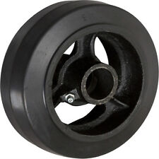 """4"""" x 2"""" Rubber on Cast Iron Wheel with Bearing - 1 EA"""
