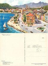 Rapallo - La passeggiata a mare ILLUSTRATORE FRATTINI (I-L 020)