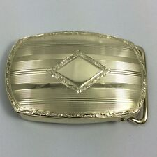 """14K YELLOW GOLD GORGEOUS DESIGNED 1"""" BELT BUCKLE MENS GIFT"""