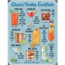 Classic Vodka Cocktails Large Metal Wall Sign - The Original Metal Sign Co.