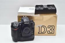 Nikon D3 12.1 MP FX Full Frame DSLR Body Shutter Count Black *50,000 shutter*