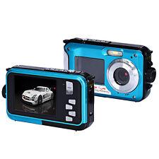 Full HD Waterproof 1920*1080 Double Screen 24MP 16x Digital Zoom Dive Camera UK