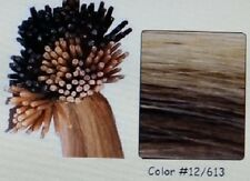 """Pre-Bond I-Tip For Micro Links 22"""" European Remy Extensions 100 Strands #12/613"""