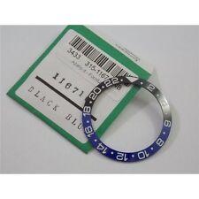 Inserto ghiera Rolex GMT Master bi-colore nero blu ceramica 116710 Bezel insert