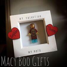 Personalised Valentine Gift Present Lego Frame Superhero Boyfriend Husband