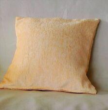 """Hermoso Color liso oro amarillo pálido Chenille Cushion Covers 40cm 16"""" BN"""