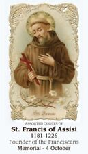 ST FRANCIS OF ASSISI PRAYER CARD (wallet size)