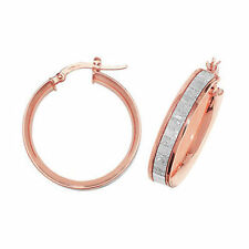 Hoop Unbranded Rose Gold Fine Earrings without Stones