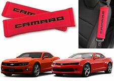 Red & Black Camaro Logo Seat Belt Shoulder Pad Cushions New Free Shipping USA
