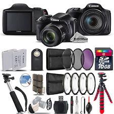 Canon PowerShot SX540 HS Camera + Spider Tripod + Monopad + EXT BAT - 16GB Kit