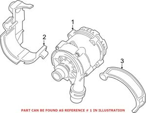 Genuine OEM Engine Auxiliary Water Pump for BMW 11518482744